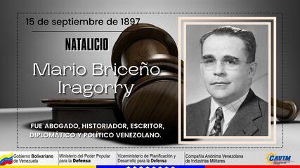 15 DE SEPTIEMBRE DE 1897 NATALICIO DE MARIO BRICEÑO IRAGORRY