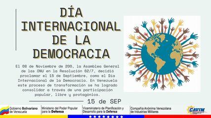 15 DE SEPTIEMBRE DÍA INTERNACIONAL DE LA DEMOCRACIA