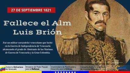 27 DE SEPTIEMBRE 1821 FALLECE EL ALM LUIS BRIÓN