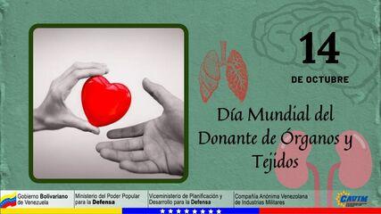 14 DE OCTUBRE DÍA MUNDIAL DEL DONANTE DE ÓRGANOS Y TEJIDOS